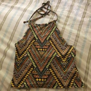 tribal print halter top